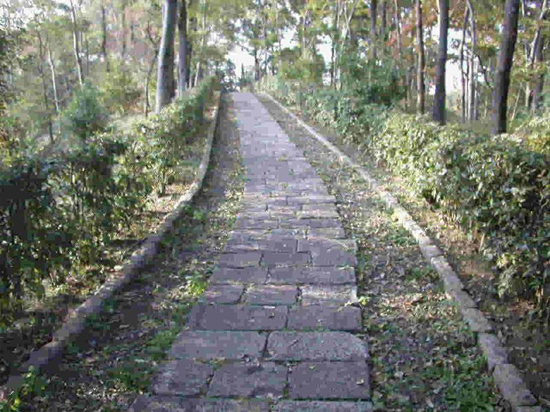 高松塚古墳に続く石畳の道
